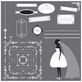 Wedding invitation design elements collection Royalty Free Stock Image