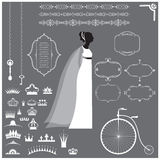 Wedding invitation design elements collection Stock Photo