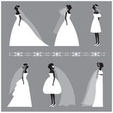 Wedding invitation design elements collection Stock Images