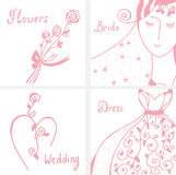 Wedding invitation design elements Royalty Free Stock Photos