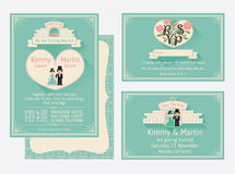 Mint Green Wedding Invitation Background Stock Illustrations