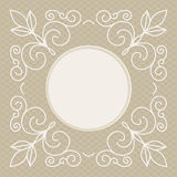 Wedding invitation design template - decorative background for greeting card in mono line style Stock Photo