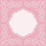 Wedding invitation design template Royalty Free Stock Image