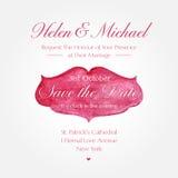 Wedding invitation design Royalty Free Stock Image
