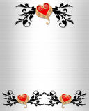 Wedding Invitation Elegant Borders Stock Images