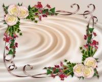Wedding invitation elegant floral stock photos
