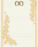 Wedding invitation embossed linen Stock Images