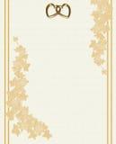 Wedding invitation embossed linen stock images