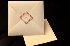 Wedding invitation with envelop Royalty Free Stock Photos