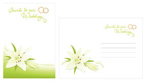 Wedding invitation and envelope Stock Images