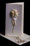 Wedding invitation with envelope. Beautiful wedding invitation with decoration and envelope Stock Photos