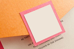 Wedding Invitation Envelope With Blank Label Stock Photography