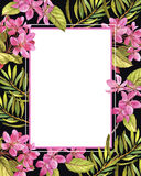 Wedding invitation exotic floral template. Save the date card Stock Photos