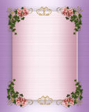 Wedding Invitation Floral Border Royalty Free Stock Image