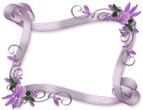 Wedding invitation floral border Lavender Stock Photos