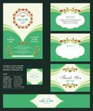 Wedding Invitation, with floral bouquets and wreath design. Suitable for save the date, baby shower, mothers day, valentines day, birthday cards, wedding vector illustration
