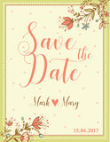 Wedding invitation floral card. Stock Images