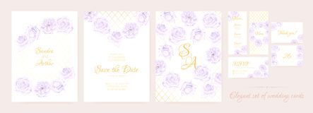 Wedding Invitation Floral Collection. royalty free illustration