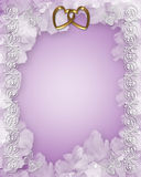 Wedding Invitation Floral Design Stock Photo