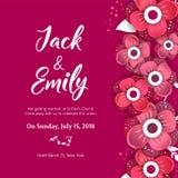 Wedding Invitation, floral invite card Design. Wedding invite flyer. Wedding invite poster Royalty Free Stock Images