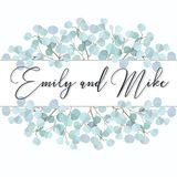 Wedding Invitation, floral invite thank you. Green greenery eucalyptus branches decorative wreath frame pattern. royalty free stock photos
