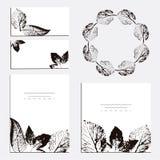 Wedding Invitation, floral invite thank you, rsvp modern cards vector illustration