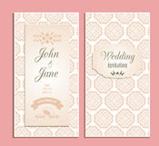 Wedding invitation floral vector template Stock Image