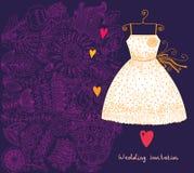 Wedding invitation. Flower pattern Royalty Free Stock Photo