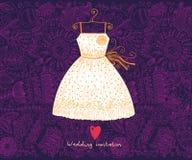 Wedding invitation. Flower pattern Stock Photo