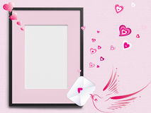 Wedding Invitation frame - background Royalty Free Stock Photos