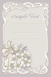 Wedding invitation, frame with flowers Stock Photography