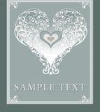 Wedding invitation, frame, heart Royalty Free Stock Image