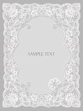 Wedding invitation, frame lace-like Stock Photo