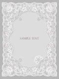 Wedding invitation, frame lace-like Stock Photo