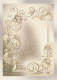 Wedding invitation, frame lace-like Royalty Free Stock Photo