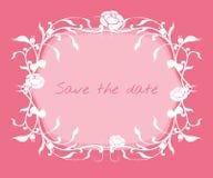 Wedding invitation frame. Royalty Free Stock Photos