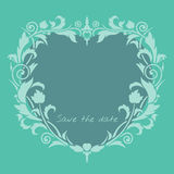 Wedding invitation frame. Stock Image