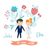 Wedding invitation funny card Royalty Free Stock Images