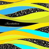Wedding invitation or greeting card. Abstract wedding invitation or greeting card stock illustration