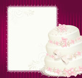 Wedding invitation, greeting card Royalty Free Stock Images