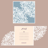 Wedding invitation or greeting card with abstract ornament.  Stock Photos