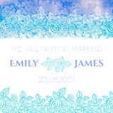 Wedding invitation or greeting card with abstract Stock Image