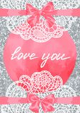 Wedding invitation or greeting card. Wedding invitation or greeting card on aquarelle background Royalty Free Stock Photo