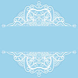 Wedding invitation or greeting card design with. Lace pattern, ornamental vector illustration Stock Images