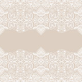 Wedding invitation or greeting card design with. Lace pattern, ornamental vector illustration Royalty Free Stock Photo