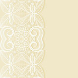Wedding invitation or greeting card design with. Lace pattern, ornamental vector illustration Royalty Free Stock Image