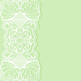 Wedding invitation or greeting card design with. Lace pattern, ornamental vector illustration Royalty Free Stock Photography