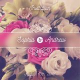 Wedding invitation. Greeting card with flowers background and flourishes elements. Stock Photos