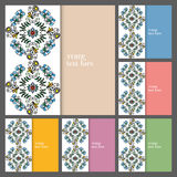 Wedding invitation or greeting cards collection. Design with floral pattern, ornamental vector illustration Stock Images
