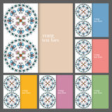 Wedding invitation or greeting cards collection. Design with floral pattern, ornamental vector illustration Royalty Free Stock Images